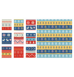 seamless christmas patterns design in vector image