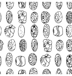 Seamless pattern with charms and beads for vector