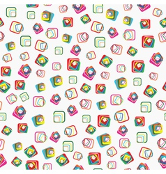 Seamless pattern with squares with rounded corners vector