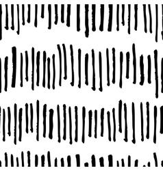seamless trendy modern brush stokes pattern vector image