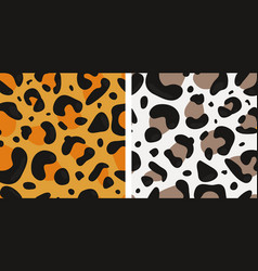 seamless with jaguar and snow leopard skin vector image