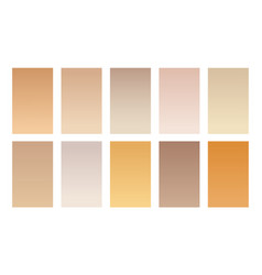 Set gradient backgrounds wood color palette vector