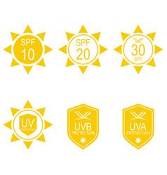 Set icons spf vector