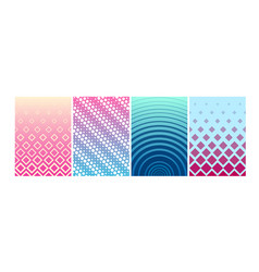 set of covers design colorful vector image