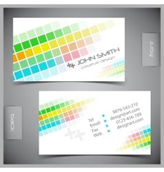 set of creative business cards vector image