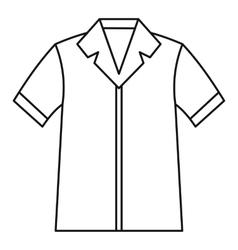 Shirt polo icon outline style vector image