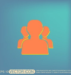 silhouette of a men social media vector image