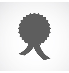 Silhouette of medal vector image