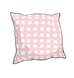 sketch of pillow art pillow isolated white pillow vector image