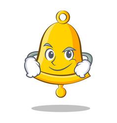 Smirking school bell character cartoon vector