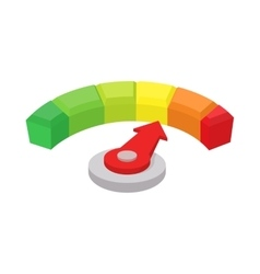 Speedometer or general indicator icon cartoon vector image