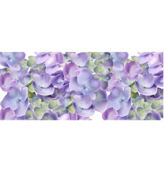 Spring hydrangea flowers watercolor background vector