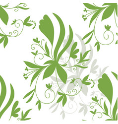 Stock abstract floral seamless pattern vector