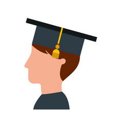 student graduated isolated icon vector image