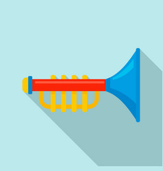 toy trumpet icon flat style vector image