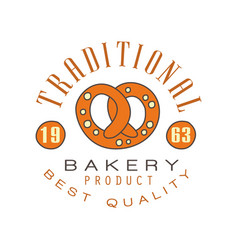traditional bakery product best quality logo vector image