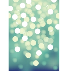 Turquoise festive lights background vector
