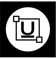 Ubderline text font edit letter icon vector