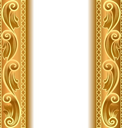 Vintage Gold Strip Frame vector image