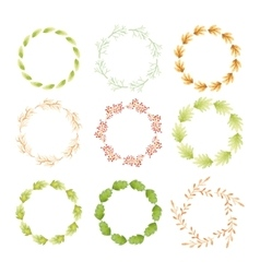 Watercolor wreaths vector image