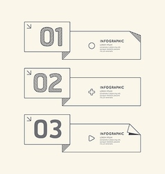 Flat linear Infographic Number Banner vector image vector image