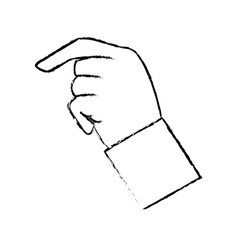 hand male finger pointer image vector image