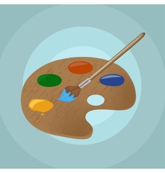 on isolated paint brush and backgroun vector image