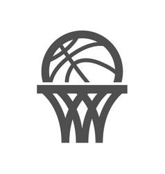 basketball net icon vector image vector image