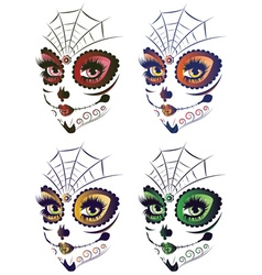 Day of Dead Girl Face2 vector image vector image