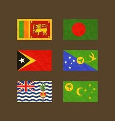 Flags of sri lanka bangladesh east timor christmas vector