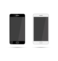 Mobile smartphones mock-up in black and white vector image vector image