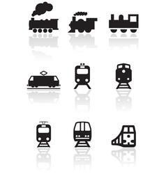 rain symbol set vector image vector image