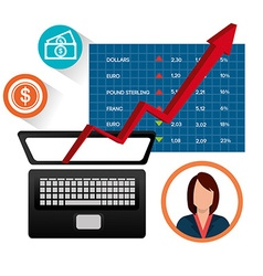 Stock market and economy graphic design vector image vector image