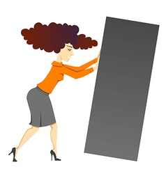 woman with block vector image