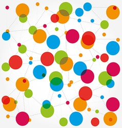 Abstract background scheme of social network vector image vector image