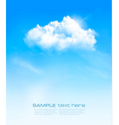 background with blue sky and white clouds vector image vector image