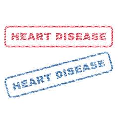 Heart disease textile stamps vector