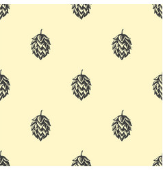 hop beer seamless pattern background vector image vector image