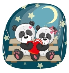 Lovers Pandas vector image vector image