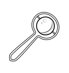 sketch baby rattle vector image