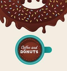 sweet donuts design vector image