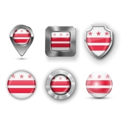 USA State Flag Badges vector image