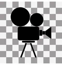 Video camera icon on transparency vector image vector image
