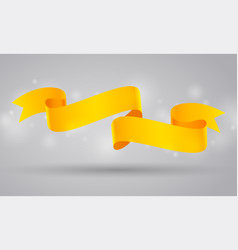 yellow curved ribbon or banner vector image