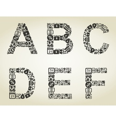 Alphabet business2 vector image vector image