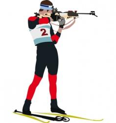 biathlon runner vector image