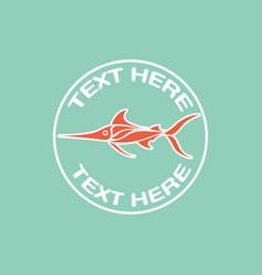 deep sea fish logo icon design vector image vector image