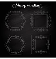 Frame vintage elements vector image vector image