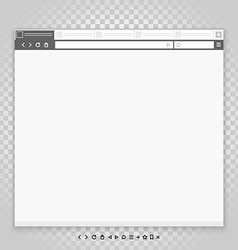 Opened browser window template and different vector image vector image