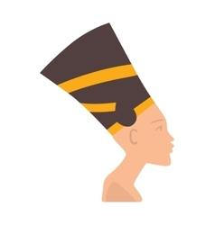 Pharaoh head isolated on white vector image